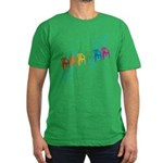 Rainbow Patio Chairs Men's Fitted T-Shirt (dark)