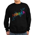 Rainbow Patio Chairs Sweatshirt (dark)