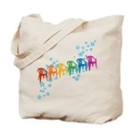 Rainbow Patio Chairs Tote Bag