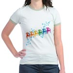 Rainbow Patio Chairs Jr. Ringer T-Shirt