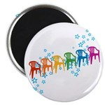 Rainbow Patio Chairs Magnet
