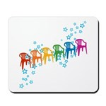 Rainbow Patio Chairs Mousepad