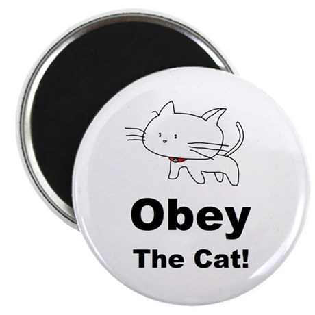 "Obey the Cat! 2.25"" Magnet (100 pack)"