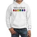 Rainbow Halloween Trick Or Treat Hooded Sweatshirt