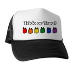 Rainbow Halloween Trick Or Treat Trucker Hat