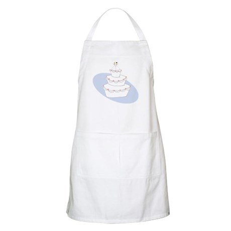 2 Brides Wedding Cake BBQ Apron