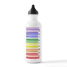 Certified Rainbow Bar Code Water Bottle
