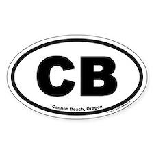 Cannon Beach Oregon CB Euro Oval Decal