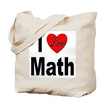 I Love Math Tote Bag