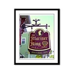 The Mariner King Inn sign Framed Panel Print