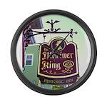 The Mariner King Inn sign Large Wall Clock