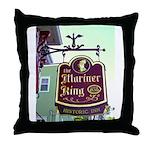 The Mariner King Inn sign Throw Pillow