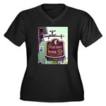 The Mariner King Inn sign Women's Plus Size V-Neck