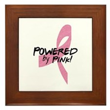 Powered by Pink Ribbon Framed Tile