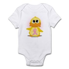 Pink Ribbon Duck Infant Bodysuit