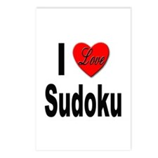 I Love Sudoku Su Doku Postcards (Package of 8)