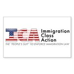 Immigration Class Action Sticker (Rectangle 10 pk)