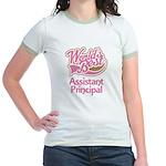 Worlds Best Assistant Principal Jr. Ringer T-Shirt