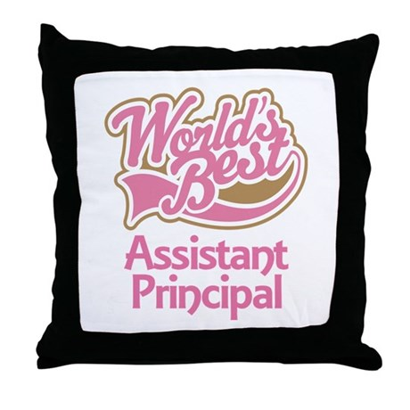Worlds Best Assistant Principal Throw Pillow