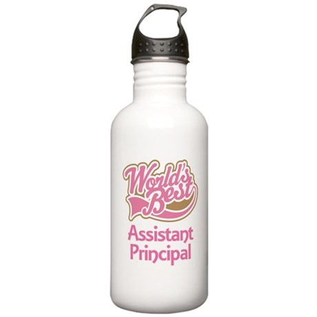 Worlds Best Assistant Principal Stainless Water Bo