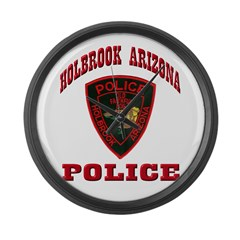 Holbrook Arizona Police Large Wall Clock