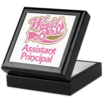 Worlds Best Assistant Principal Keepsake Box