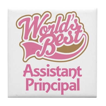 Worlds Best Assistant Principal Tile Coaster