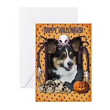 Halloween Nightmare - Corgi Greeting Cards (Pk 10