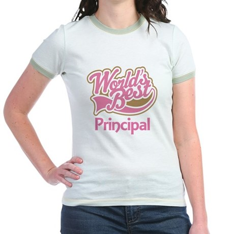 Worlds Best Principal Jr. Ringer T-Shirt