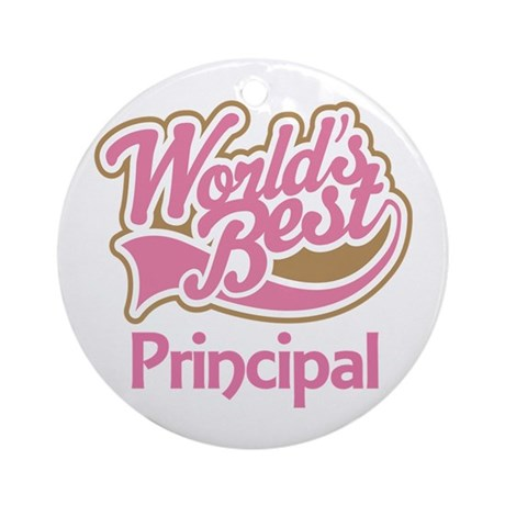 Worlds Best Principal Ornament (Round)