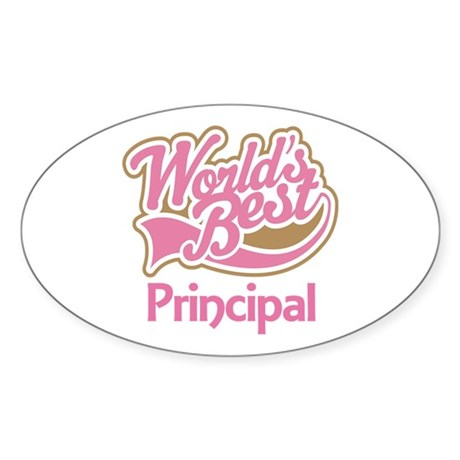 Worlds Best Principal Sticker (Oval)