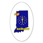 ILY Indiana Sticker (Oval 10 pk)