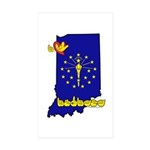 ILY Indiana Sticker (Rectangle 50 pk)
