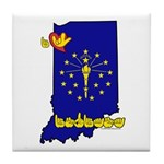 ILY Indiana Tile Coaster