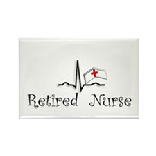 Retired Nurse Rectangle Magnet (10 pack)