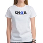 SNOB Blue Logo Women's T-Shirt