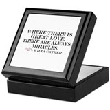 Love and miracles Keepsake Box