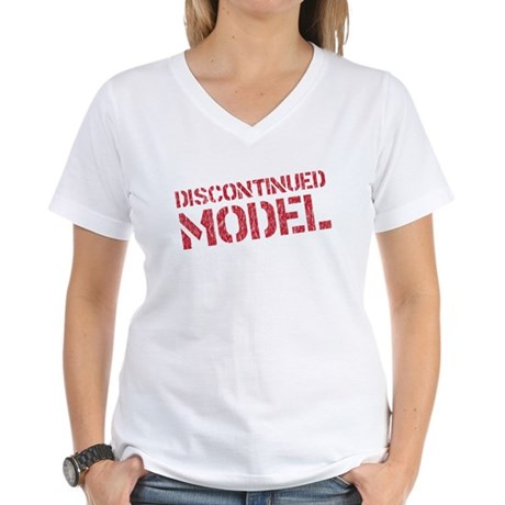 discontinued model Women's V-Neck T-Shirt