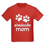 Cute Airedoodle Mom Kids Dark T-Shirt