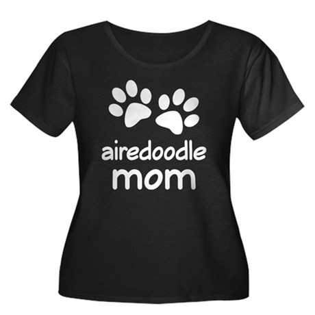 Cute Airedoodle Mom Women's Plus Size Scoop Neck D