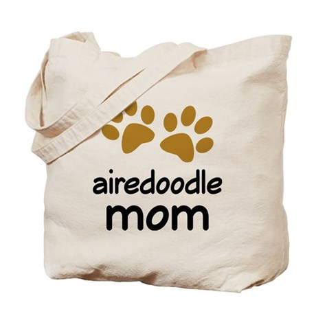 Cute Airedoodle Mom Tote Bag