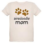Cute Airedoodle Mom Organic Kids T-Shirt