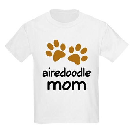 Cute Airedoodle Mom Kids Light T-Shirt