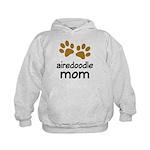 Cute Airedoodle Mom Kids Hoodie
