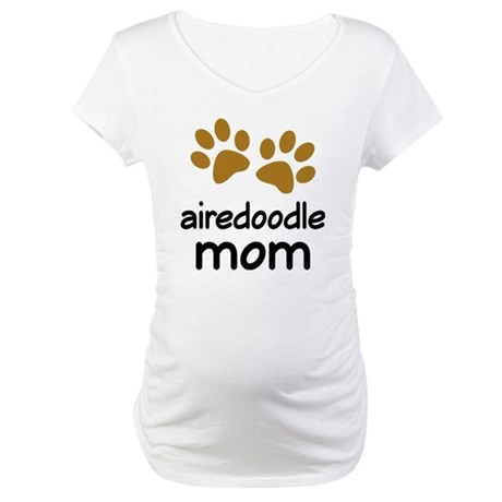 Cute Airedoodle Mom Maternity T-Shirt