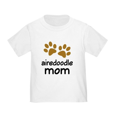 Cute Airedoodle Mom Toddler T-Shirt