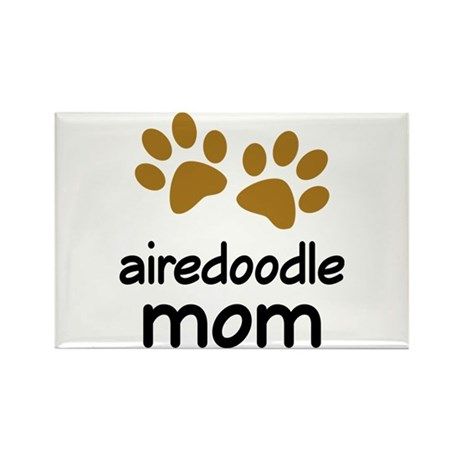 Cute Airedoodle Mom Rectangle Magnet