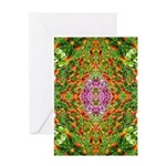 Flower Garden Carpet 4 Greeting Card