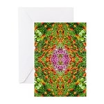 Flower Garden Carpet 4 Greeting Cards (Pk of 10)
