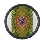 Flower Garden Carpet 4 Large Wall Clock